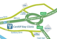 Cardiff Bay Clinic Map Location